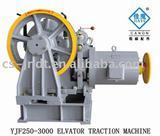 1250kg-3200kg VVVF Geared Elevator Traction Machine