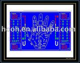 LCD Display with Blue background