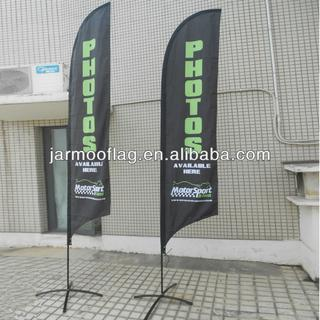 feather banner for advertising