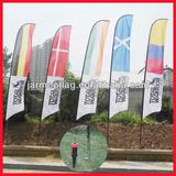 2013 hot outdoor feather flag with pole base