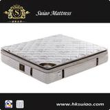 High cost-effective bamboo pillow top pocket spring mattress