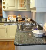 black natural granite kitchen counter top