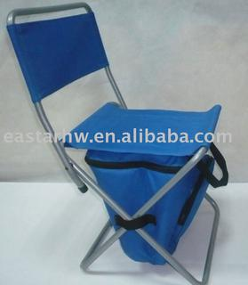 Foldable fishing chair with insulated bag