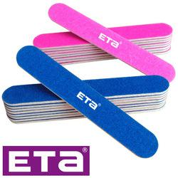 pink and blue color 180 grit nail file