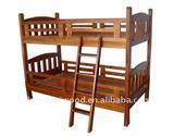 Wooden Flat column bunk bed