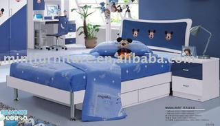 lovely bule mickey bed