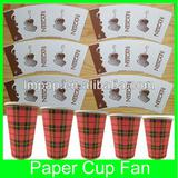 printed and cutted paper cup fan