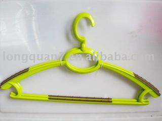 plastic hanger (soft grip hanger)