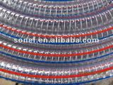 PVC steel-knitted screw strengthen hose soft hose