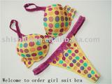 Sexy lady and girls' bra sets