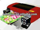 Small DX5 inkjet UV flatbed printer with, LED lamp,white ink