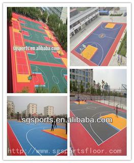 hot sale 12 years long lifetime PP interlocking basketball flooring/basketball court surfaces durable
