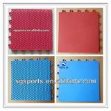 hot sale 12 years long lifetime PP interlocking badminton flooring/badminton court surfaces durable