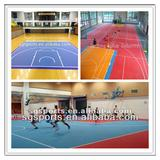 portable modular suspended plastic basketball floor mats/basketball flooring PP