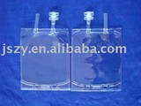 Infusion bag with open tube and twist off port