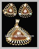 2012 new fashion antique jewellery crystal jewellery set