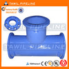 ductile iron pipe fittings loose flange tee