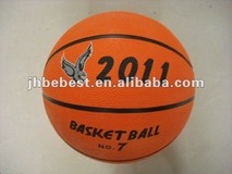 size 7 cheap good new promotional rubber basketball