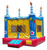Inflatable birthday cake moon bounce with candles