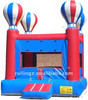 Inflatable bounce house with hot air balloons