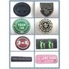 Garment labels, clothing rubber labels, rubber emobssed labels
