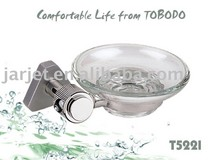Stainless steel glass soap dish T5221