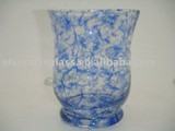 hurricane decorative glass candler with water transfer printing tech for holiday gifting