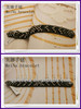 fahsion semi-precious bracelets in newest style gold plated black