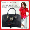 Genuine leather handbags lady fashion shape handbag