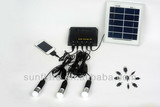 Own factory portable portable solar lighting system with mobile phone charger