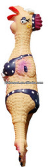 New and Fashion latex squeaky chicken toy for dog