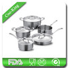 European Style Stainless Steel 9Pcs Cookware Set