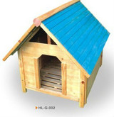 wooden dog house hl-g-002 decorated dog house