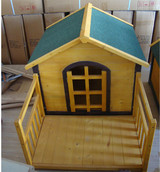 wooden and folding dog cage