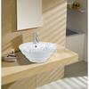 New European style one hole art basin high temperature ceramics  wash sink round shape porcelain wash hand basin