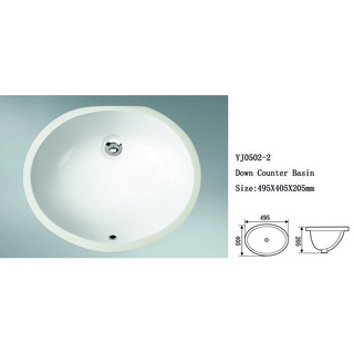 New European style no hole under counter basin high temperature ceramics wash sink round shape porcelain wash hand basin