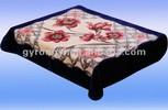 100% polyester mink flower printed blanket