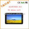 Allwinner A13 android 4.0 tablet with sim card slot