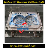 Good quality plastic double fan cover mould