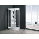 Monalisa  steam room, acrylic tray,aluminium frame,glass