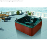 Garden hot tub with jacuzzi