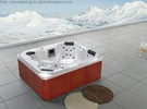 Freestanding massage 4 person walk-in bathtub