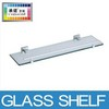 aluminum bathroom and kitchen hanging wall mounted glass shelf