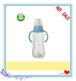 270ml baby PP feeding bottle with handle and nipple