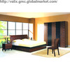 Modern and Simplicity Style Panel Bedroom Suite,Wood Bed,Wardrobe