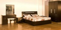 Good Quality Cozy Panel Bedroom Suite,Wood bed and Wardrobe,Nightstand