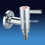 Cold water tap for wash machine with zinc-alloy handle lever