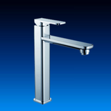 Single handle brass basin faucet and tap with good chrome plate