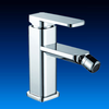 Hot and cold water faucet with single lever zinc alloy handle
