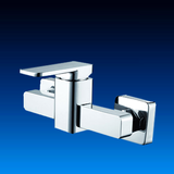 Square design wall mounted shower mixer and faucet with good chrome